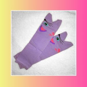 Other - Kitty purple leg warmers for babies or kids